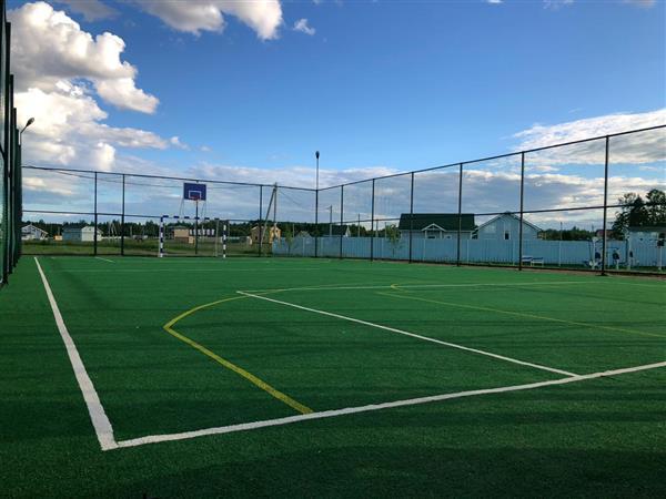 В Suvantojarvi готовы площадки для футбола и баскетбола